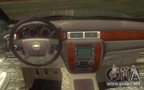 Chevrolet Cheyenne LT 2012 para visión interna GTA San Andreas