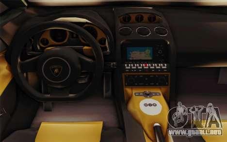 Lamborghini Gallardo SE para visión interna GTA San Andreas