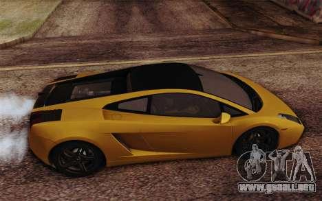 Lamborghini Gallardo SE para GTA San Andreas vista hacia atrás