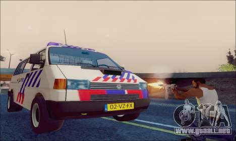 Volkswagen T4 Politie para visión interna GTA San Andreas