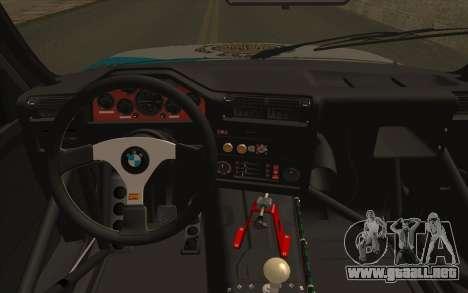 BMW M3 E30 Racing Version para la visión correcta GTA San Andreas