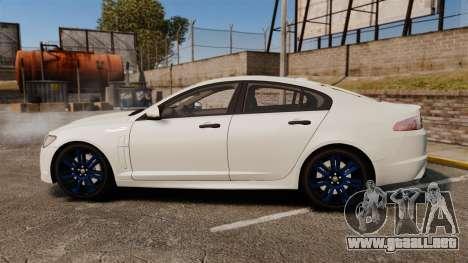 Jaguar XFR 2010 Police Unmarked [ELS] para GTA 4 left