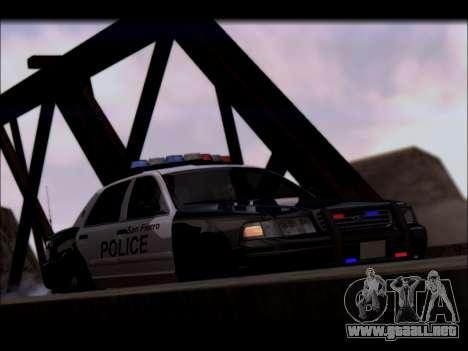 Ford Crown Victoria 2005 Police para visión interna GTA San Andreas