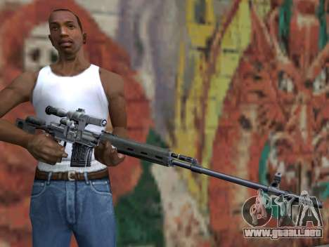 Rifle de francotirador de S.T.A.L.K.E.R. para GTA San Andreas tercera pantalla