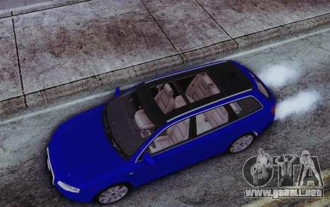 Audi A4 2005 Avant 3.2 Quattro Open Sky para GTA San Andreas vista hacia atrás