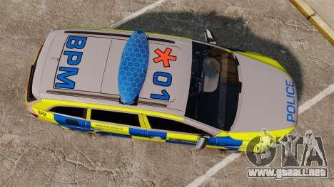 Audi Q7 Metropolitan Police [ELS] para GTA 4 visión correcta