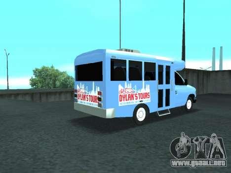 Ford Shuttle Bus para GTA San Andreas vista posterior izquierda
