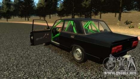 VAZ 2105 para GTA 4 Vista posterior izquierda