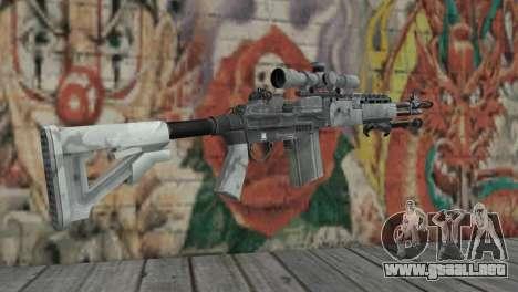 M14 EBR Ártico para GTA San Andreas segunda pantalla