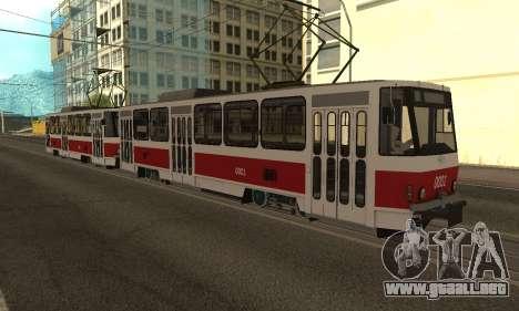 Tatra T6B5 para visión interna GTA San Andreas