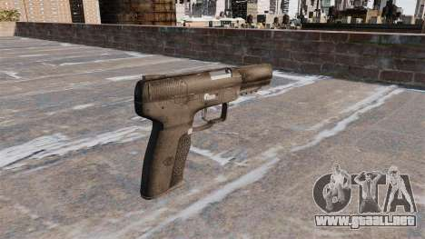 Carga automática pistola FN Five-seveN para GTA 4 segundos de pantalla