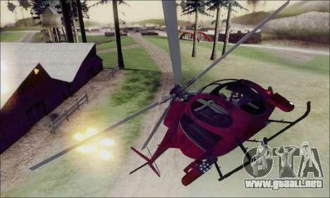 Helicóptero de ataque buitre de GTA 5 para la vista superior GTA San Andreas