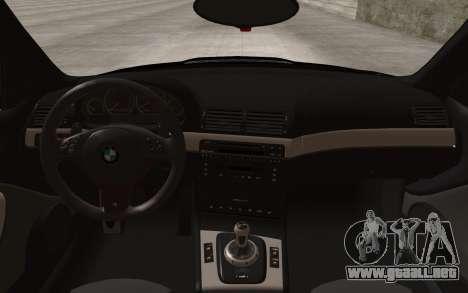 BMW M3 e46 Duocolor Edit para GTA San Andreas vista hacia atrás
