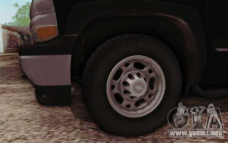 Chevrolet Suburban FBI para la visión correcta GTA San Andreas