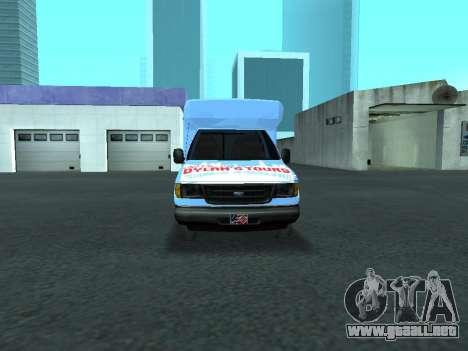 Ford Shuttle Bus para vista lateral GTA San Andreas