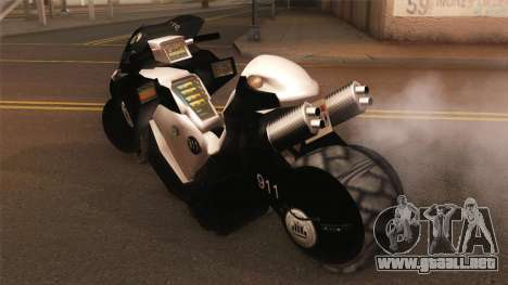 CopBike Alien City para GTA San Andreas left