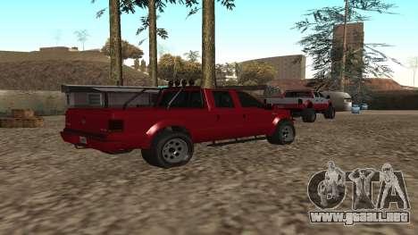Sadler de GTA 5 para GTA San Andreas vista posterior izquierda