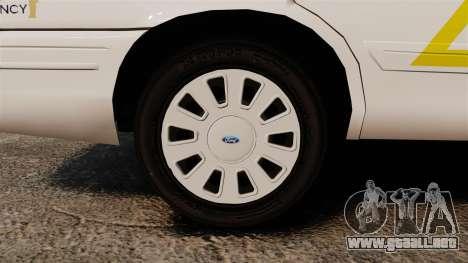 Ford Crown Victoria 2011 LCSHP [ELS] para GTA 4 vista hacia atrás