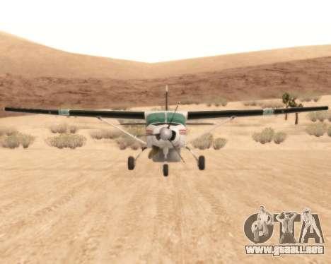 Cessna 208B Grand Caravan para GTA San Andreas vista hacia atrás