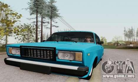 VAZ 2107 Coupe para visión interna GTA San Andreas