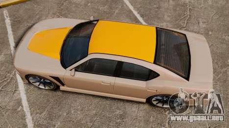GTA V Bravado Buffalo Supercharged para GTA 4 visión correcta