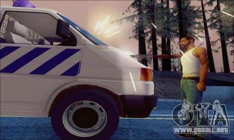 Volkswagen T4 Politie para vista lateral GTA San Andreas