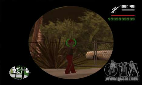 GTA V Sniper Scope para GTA San Andreas segunda pantalla