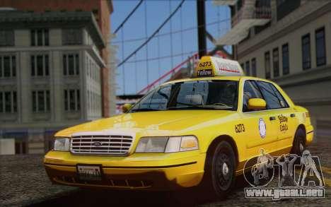 Ford Crown Victoria LA Taxi para la visión correcta GTA San Andreas