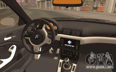 BMW M3 E46 para la visión correcta GTA San Andreas
