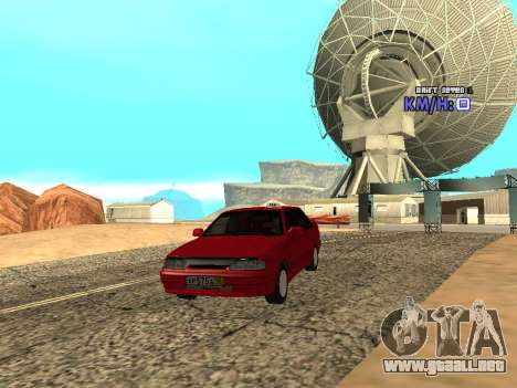VAZ 2115 Taxi para GTA San Andreas vista hacia atrás