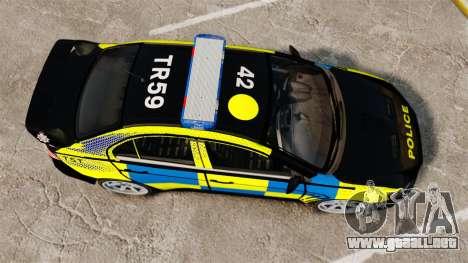 Mitsubishi Lancer Evolution X Uk Police [ELS] para GTA 4 visión correcta