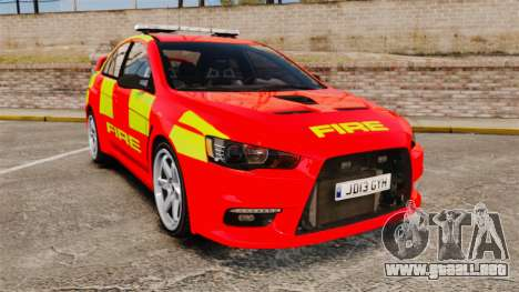 Mitsubishi Lancer Evo X Fire Department [ELS] para GTA 4