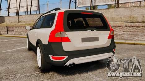 Volvo XC70 Stock para GTA 4 Vista posterior izquierda