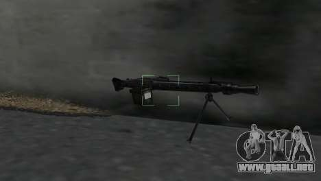 Ametralladora MG-3 para GTA Vice City segunda pantalla