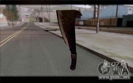 Machete para GTA San Andreas segunda pantalla