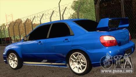 Subaru WRX STI 2004 para GTA San Andreas left