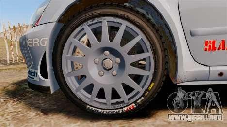 Peugeot 307 WRC para GTA 4 vista hacia atrás