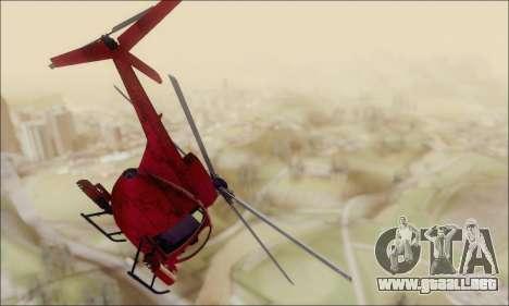Helicóptero de ataque buitre de GTA 5 para la visión correcta GTA San Andreas