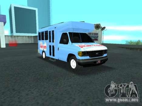 Ford Shuttle Bus para visión interna GTA San Andreas