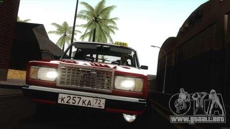 VAZ 2107 Bombilla para GTA San Andreas vista hacia atrás