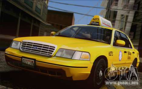 Ford Crown Victoria LA Taxi para vista lateral GTA San Andreas
