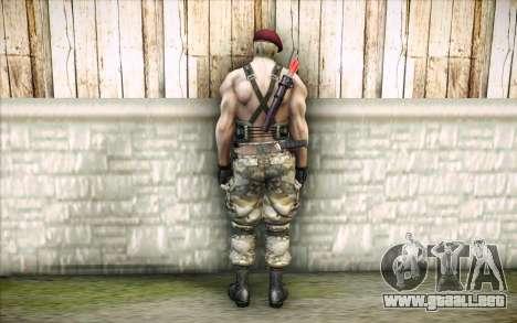 Jack Krauser mercenario para GTA San Andreas segunda pantalla