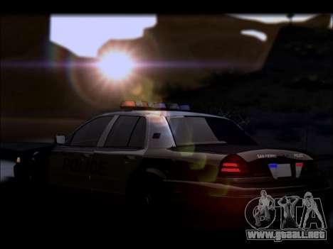 Ford Crown Victoria 2005 Police para vista inferior GTA San Andreas