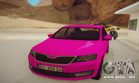 Skoda Rapid 2014 para GTA San Andreas