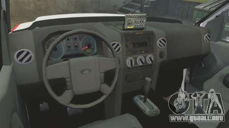 Ford F-350 FDNY Ambulance [ELS] para GTA 4 vista hacia atrás