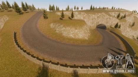 Cliffside ubicación Rally para GTA 4 quinta pantalla