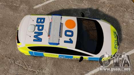Seat Cupra Metropolitan Police [ELS] para GTA 4 visión correcta