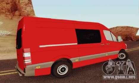 Mersedes-Benz Sprinter para visión interna GTA San Andreas