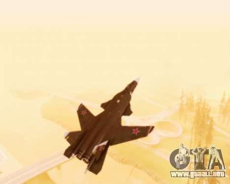 Su-47 Berkut v1.0 para la vista superior GTA San Andreas