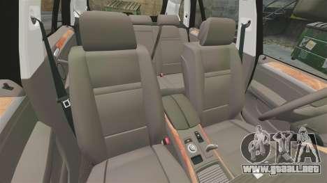 BMW X5 City Of London Police [ELS] para GTA 4 vista superior